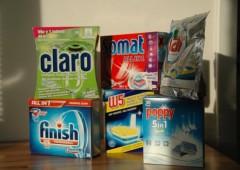 Multifunkční tablety do myčky. I bezfosfátové myjí dobře.
