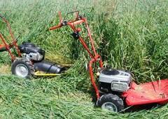S vysokou trávou si poradí bubnové sekačky